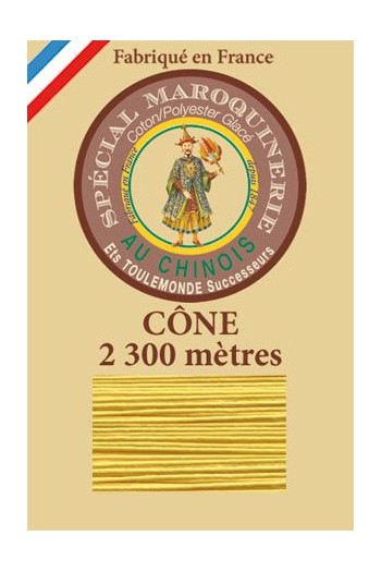 Fil Au Chinois leatherwork polycotton thread size 28/3 - 2 300m cone - Col. 239 Chicklet