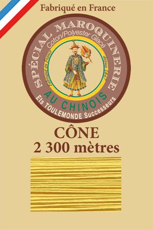 Leather polycotton thread size 28/3 - 2 300m cone - Col. 239 Chicklet