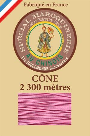 Leather polycotton thread size 28/3 - 2 300m cône - Col. 200 Pink