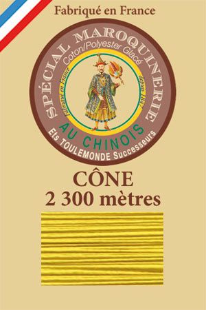 Leather polycotton thread size 28/3 - 2 300m cone - Col. 259 Sunshine