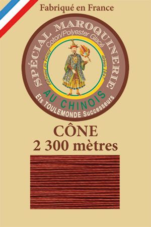 Leather polycotton thread size 28/3 - 2 300m cône - Col. 333 Copper
