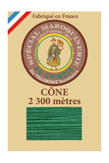 Fil Au Chinois leatherwork polycotton thread size 28/3 - 2 300m cone - Col. 436 Lawn