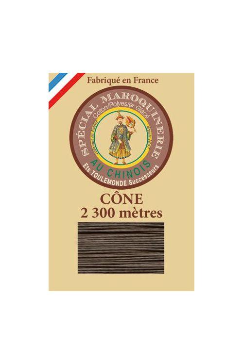 Fil Au Chinois leatherwork polycotton thread size 28/3 - 2 300m cone - Col. 518 Mole