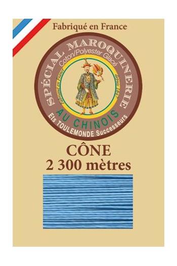 Fil-Au-Chinois Lederzwirn Stärke 28/3 Kone - 2 300 m Lauflänge 677 - Türkis
