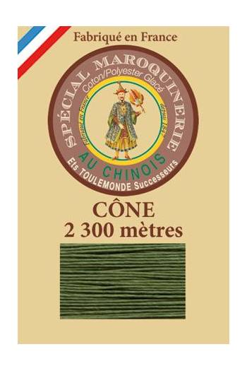 Fil Au Chinois leatherwork polycotton thread size 28/3 - 2 300m cone - Col. 735 Chartreuse