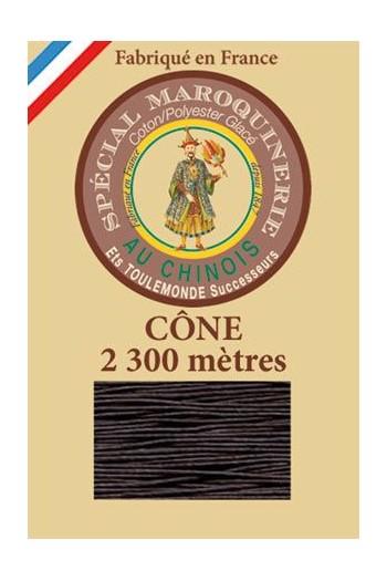 Fil spécial maroquinerie 28/3 Fil Au Chinois - Cône 2 300m - Coloris 901 Marron foncé