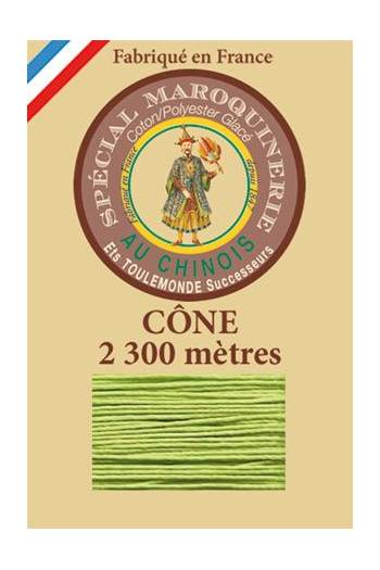 Fil Au Chinois leatherwork polycotton thread size 28/3 - 2 300m cone - Col. 455 Light green