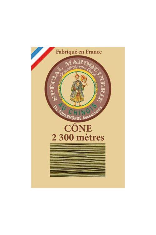 Fil Au Chinois leatherwork polycotton thread size 28/3 - 2 300m cone - Col. 643 Moss