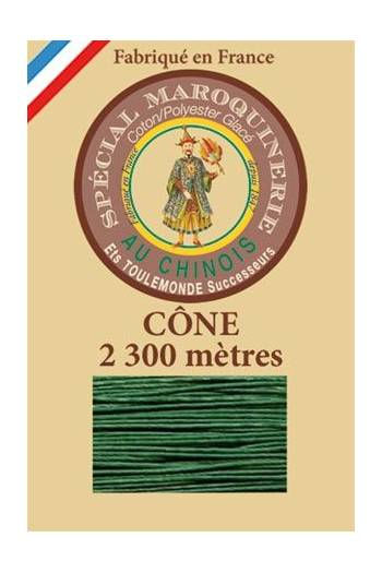 Fil Au Chinois leatherwork polycotton thread size 28/3 - 2 300m cone - Col. 767 Green