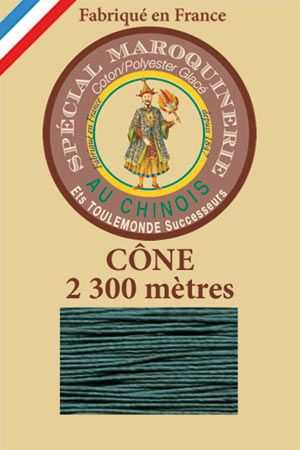 Leather polycotton thread size 28/3 - 2 300m cône - Col.750 Peacock