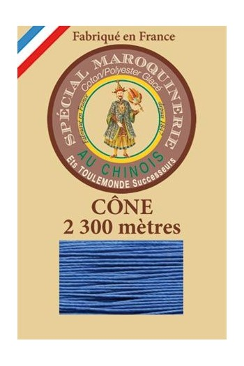 Fil Au Chinois leatherwork polycotton thread size 28/3 - 2 300m cone - Col. 665 Royal blue