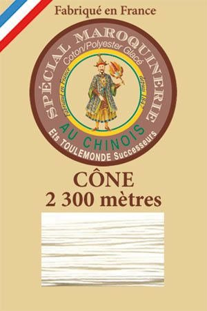 Leather polycotton thread size 28/3 - 2 300m cône - Col. 105 Natural