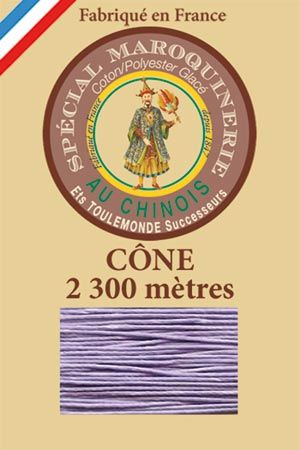 Leather polycotton thread size 28/3 - 2 300m cône - Col. 497 Mauve