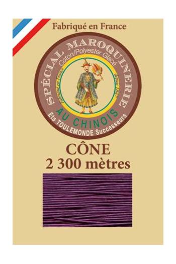 Fil Au Chinois leatherwork polycotton thread size 28/3 - 2 300m cone - Col. 218 Violet