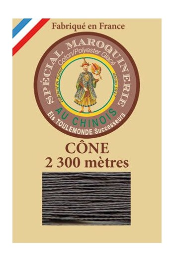 Fil Au Chinois leatherwork polycotton thread size 28/3 - 2 300m cone - Col. 872 Slate