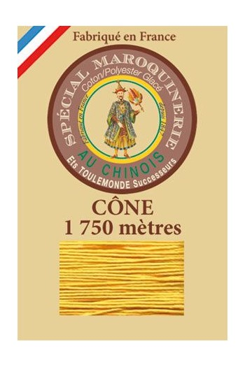 Fil Au Chinois leatherwork polycotton thread size 28/4 - 1 750m cone - Col. 508 Yellow