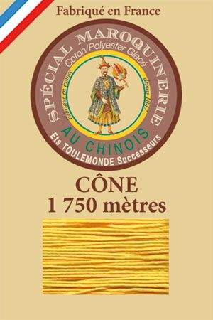 Leather polycotton thread size 28/4 – 1 750m cone - Col.508 Yellow