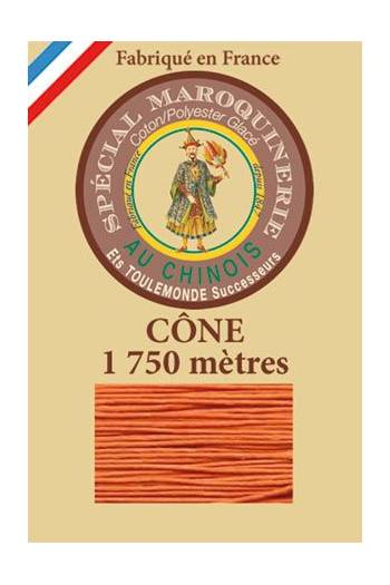 Fil Au Chinois leatherwork polycotton thread size 28/4 - 1 750m cone - Col. 419 Orange