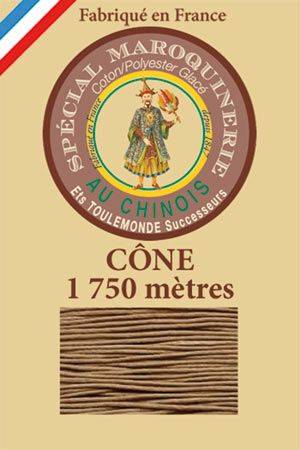 Leather polycotton thread size 28/4 – 1 750m cone - Col. 185 Beige
