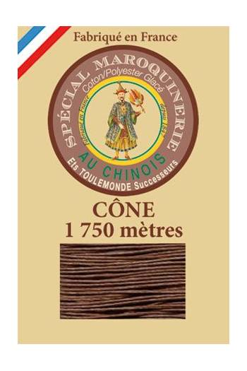 Fil Au Chinois leatherwork polycotton thread size 28/4 - 1 750m cone - Col. 276 Brown