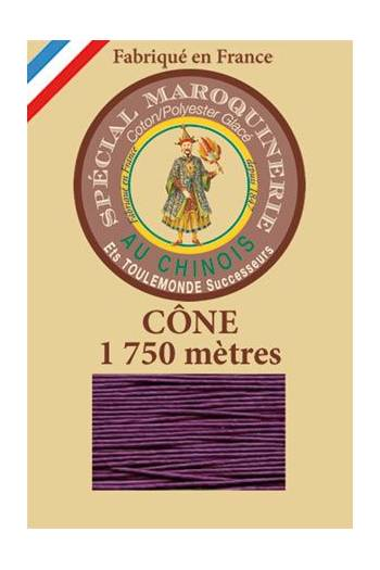 Fil Au Chinois leatherwork polycotton thread size 28/4 - 1 750m cone - Col. 218 Violet