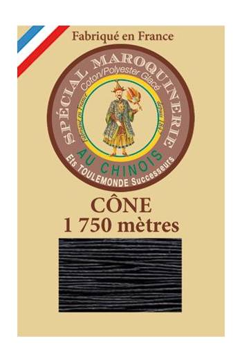 Fil Au Chinois leatherwork polycotton thread size 28/4 - 1 750m cone - Col. 812 Navy blue