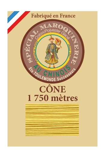Fil Au Chinois leatherwork polycotton thread size 28/4 - 1 750m cone - Col. 239 Chicklet