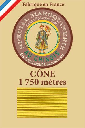 Leather polycotton thread size 28/4 – 1 750m cone - Col. 259 Sunshine
