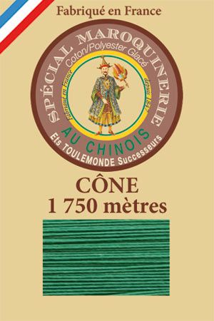 Leather polycotton thread size 28/4 – 1 750m cone - Col. 436 Lawn