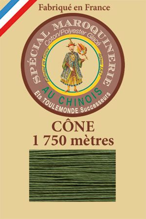 Leather polycotton thread size 28/4 – 1 750m cone - Col. 735 Chartreuse