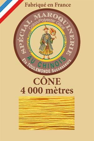 Leather polycotton thread size 50/3 – 4 000m cone - Col. 508 Yellow