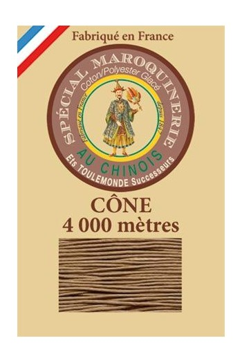 Fil Au Chinois leatherwork polycotton thread size 50/3 - 4 000m cone - Col. 185 Beige