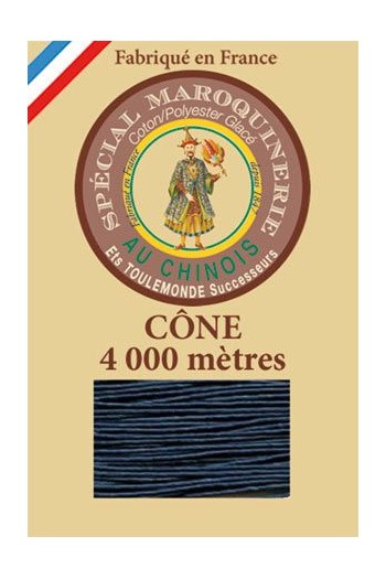 Fil Au Chinois leatherwork polycotton thread size 50/3 - 4 000m cone - Col. 266 Blue