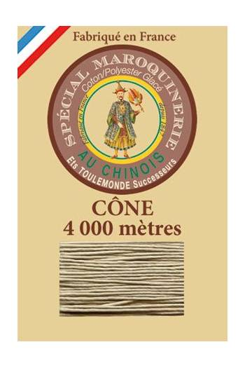 Fil Au Chinois leatherwork polycotton thread size 50/3 - 4 000m cone - Col. 359 Grey