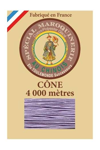 Fil Au Chinois leatherwork polycotton thread size 50/3 - 4 000m cone - Col. 497 Mauve