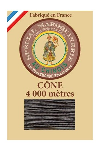 Fil Au Chinois leatherwork polycotton thread size 50/3 - 4 000m cone - Col. 872 Slate