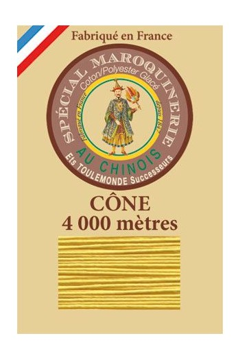 Fil Au Chinois leatherwork polycotton thread size 50/3 - 4 000m cone - Col. 239 Chicklet