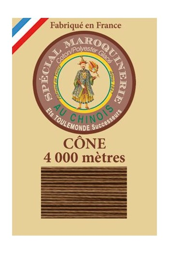 Fil Au Chinois leatherwork polycotton thread size 50/3 - 4 000m cone - Col. 374 Bronze