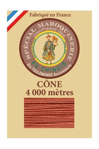 Fil spécial maroquinerie 50/3 Fil Au Chinois  - Cône 4 000m  - Coloris 420 Citrouille