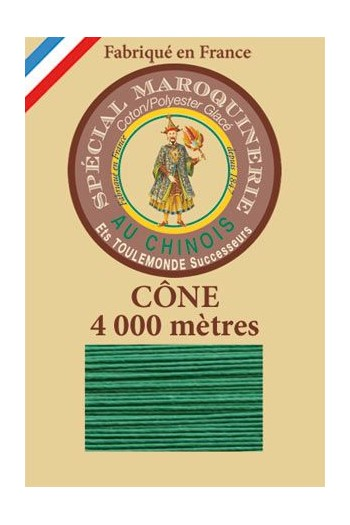 Fil Au Chinois leatherwork polycotton thread size 50/3 - 4 000m cone - Col. 436 Lawn