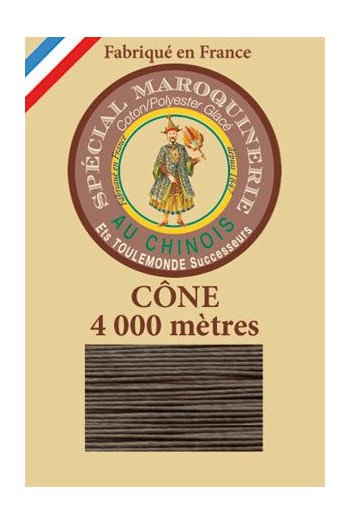 Fil Au Chinois leatherwork polycotton thread size 50/3 - 4 000m cone - Col. 518 Mole