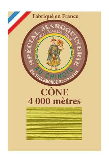 Fil Au Chinois leatherwork polycotton thread size 50/3 - 4 000m cone - Col. 519 Mojito