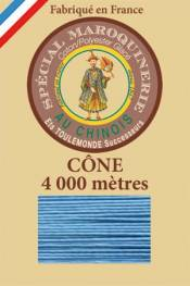 Leather polycotton thread size 50/3 – 4 000m cone - Col. 677 Turquoise