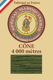 Leather polycotton thread size 50/3 – 4 000m cone - Col. 735 Chartreuse