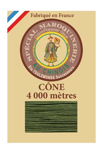 Fil Au Chinois leatherwork polycotton thread size 50/3 - 4 000m cone - Col. 735 Chartreuse