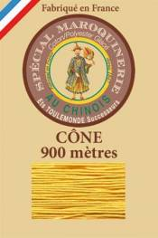 Leather polycotton thread size 28/2 - 900m cone - Col. 508 Yellow