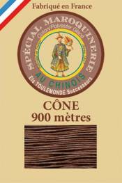 Leather polycotton thread size 28/2 - 900m cone - Col. 276 Brown