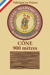 Leather polycotton thread size 28/2 - 900m cone - Col. 185 Beige
