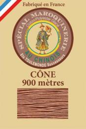 Leather polycotton thread size 28/2 - 900m cone - Col. 330 Fawn