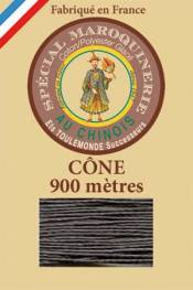 Leather polycotton thread size 28/2 - 900m cone - Col. 872 Slate